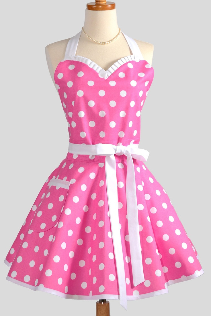 Collection Womens Pink And White Polka Dot Dress Pictures - Reikian