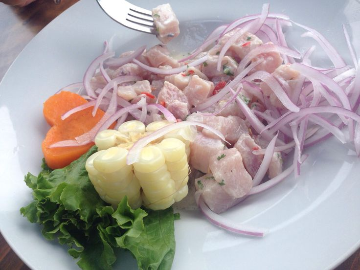 [I ate] Peruvian ceviche (ingredients in comments)