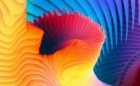 Windows 10 Wallpaper Free Download with Colorful Abstract Spirals