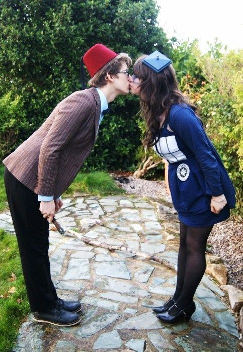 doctor who couple costume, but with rob as ten, of course. Matt Smith.....yuck!!