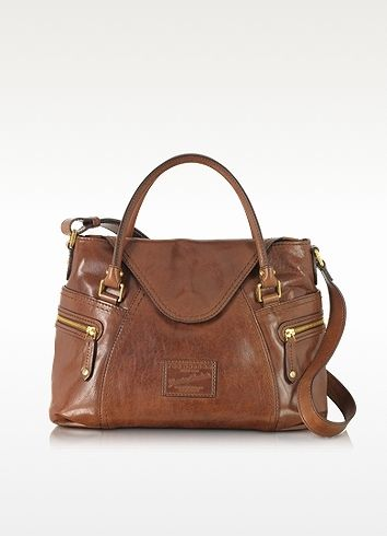 $1,599, The Bridge Icons Gaucho Medium Marrone Leather Tote Wshoulder Strap. Sold by Forzieri.