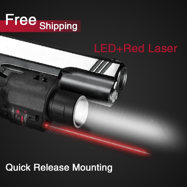 Hot Sell 200 Lumen Tactical Laser Flashlight Combo & 5mw Red Laser Sight for pistol+Free Shipping  (BOB-JGSD) on AliExpress.com. $35.90