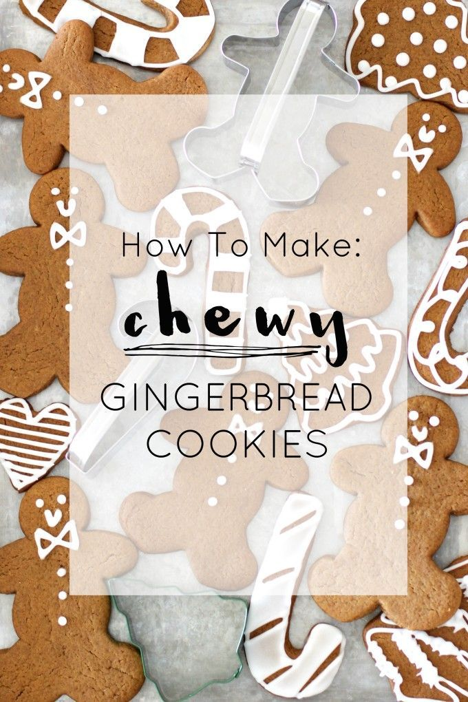 How to Make Frosted Chewy Gingerbread Cookies. Click through for the ...