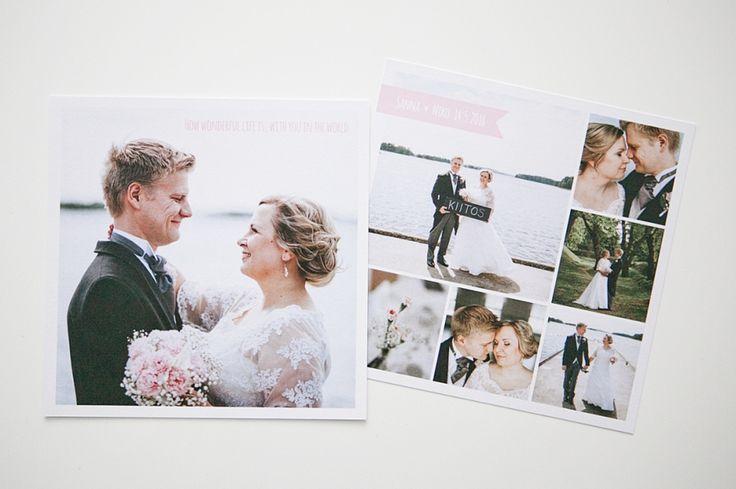 Custom made thank you cards by www.makeadesign.fi /Kiitoskortit / MakeaDesign