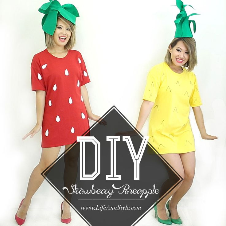 DIY Strawberry Pineapple Girl HALLOWEEN Costume | Ann Le Style
