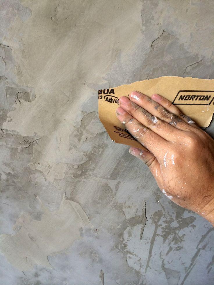 Faça você mesmo: parede de cimento queimado