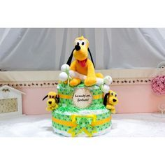 Cadou pentru copii - Tort din pampers Pluto & friends