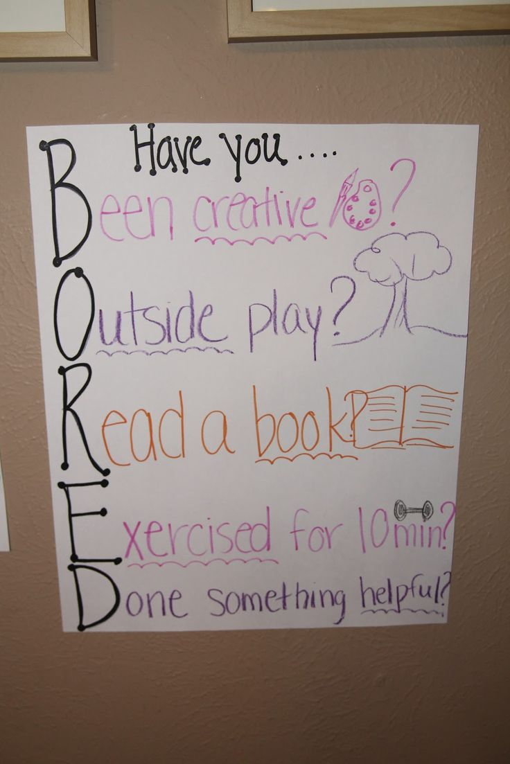 """BORED quote - great to reference when kids say the dreaded """"B"""" word"""