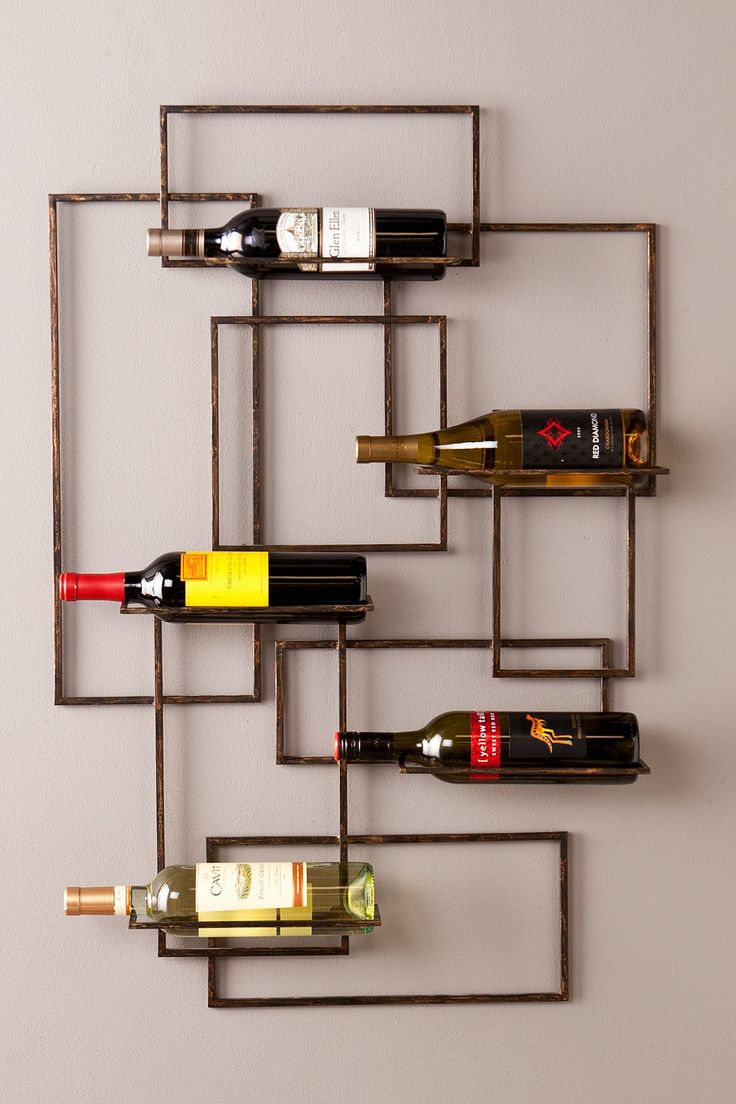 Cool Wall Decor Valier Wall Mount Wine Sculpture On