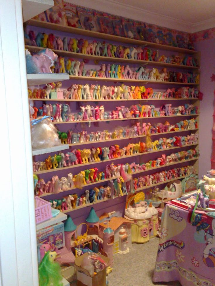 My Little Pony collection on display - I want this in my life!