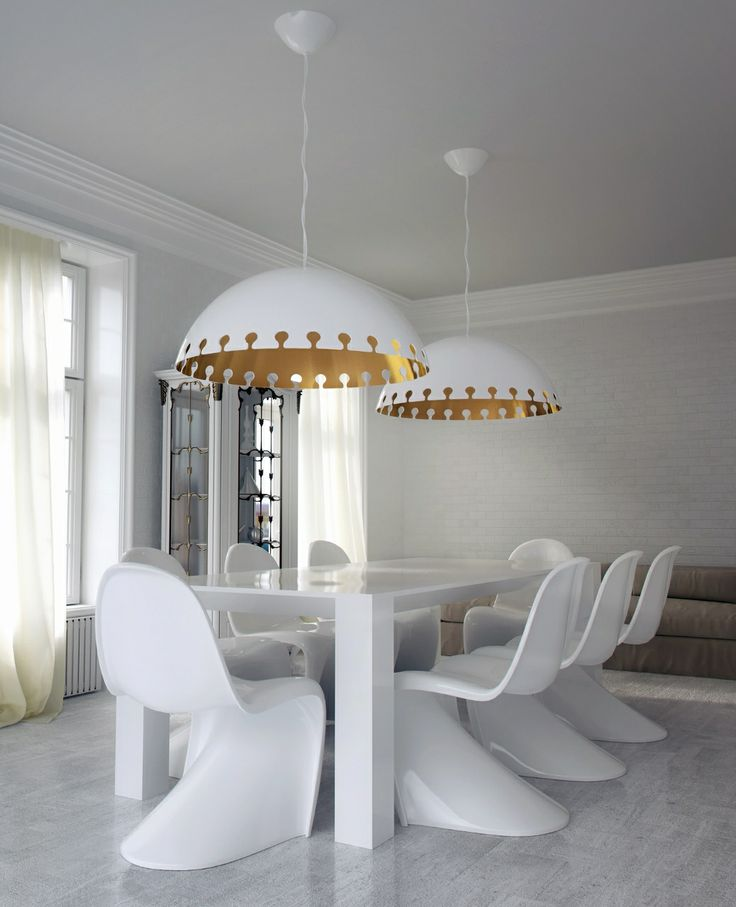 1000 images about iris design studio gold lamps on for Over dining table pendant lights