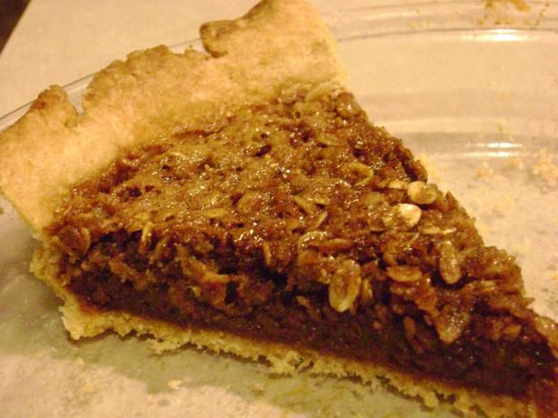 This pie is awesome! We make it at work all the time using a slightly different recipe. Basically we start with the base of pecan pie and then add oatmeal instead of pecans. It's a great alternative to pecan pie for those with nut allergies :)