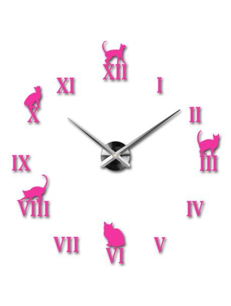 Kreativní nástěnné hodiny - Černá kočka Kód:  12S020-RAL4003-S-COLOR** Vyber si barvu podle sebe! Přišel čas zútulnit si své bydlení novými hodinami. Velké nástěnné 3D hodiny jsou krásnou dekorací Vašeho interiéru. Už nikdy nebudete opozdí.
