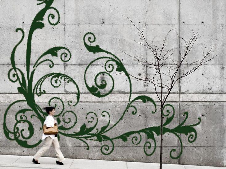 Grow moss graffiti inspiration trends 2013