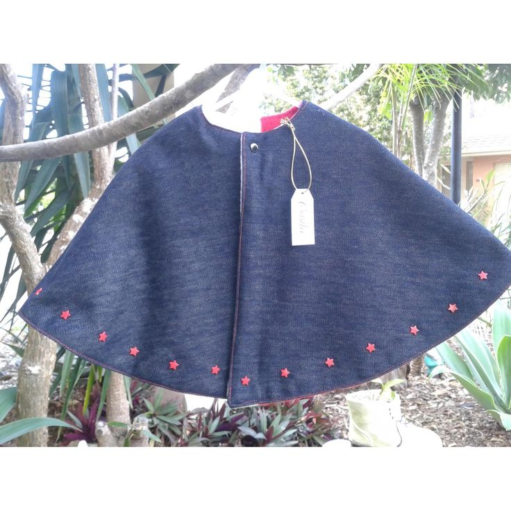 $32.00 Girls reversible poncho by CoraleeHandcraftedDesigns on Handmade Australia