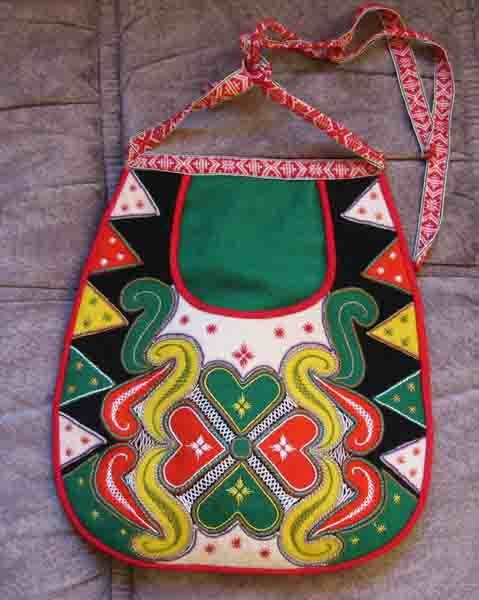 Swedish folk costume bag from Leksand