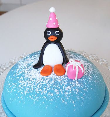 Pingu birthday cake for my 2 years old daughter