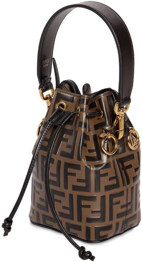 32c59a53ce9 Fendi Mon Tresor Small Leather Shoulder Bag | ~~ Bucket Bags Are ...