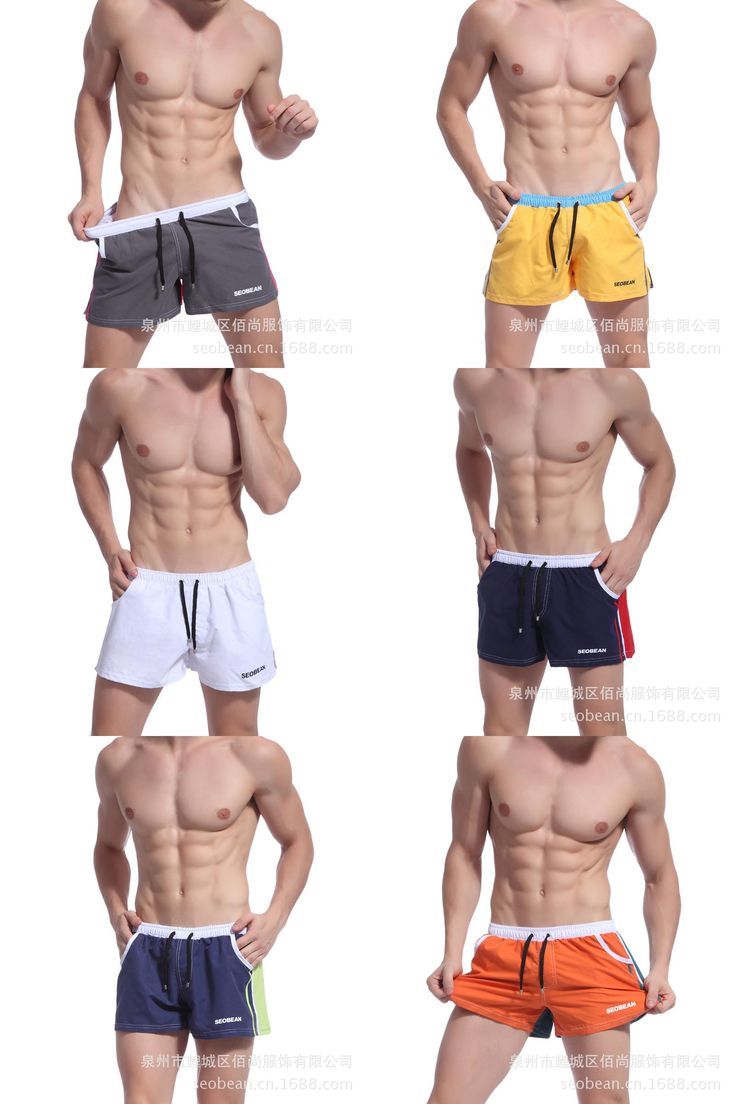 [Visit to Buy] Summer Fitness gym men shorts quick-drying male Sports jogging trainning running shorts beach pantalones mallas hombre #Advertisement