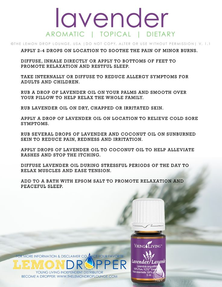LOVE me some lavender Oil! Click the image to see what all you can do with it!