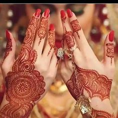 "On the first wedding day, which is called the ""Henna"" day, is when the girl gets her hands and feet ""tattooed"" with henna. It is of customs that the groom comes in and gets a small cloth of Henna pushed in the palm of his hand."