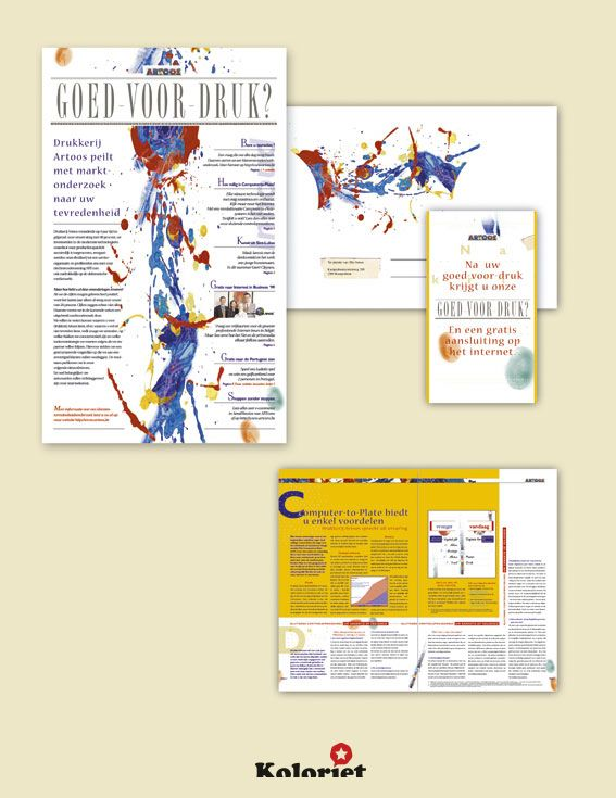 """Tijdschrift ontwerp """"Goed voor druk"""" door Koloriet - Danni Elskens"""