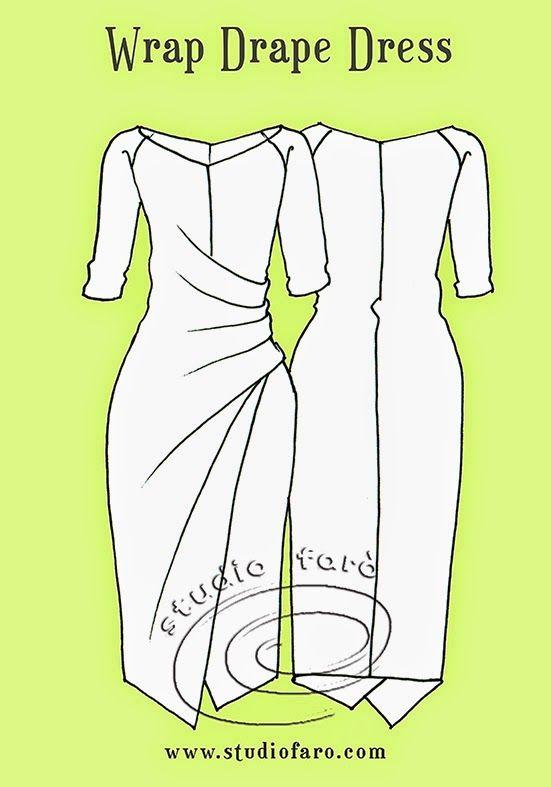 Pattern Puzzle - The Wrap Drape Dress