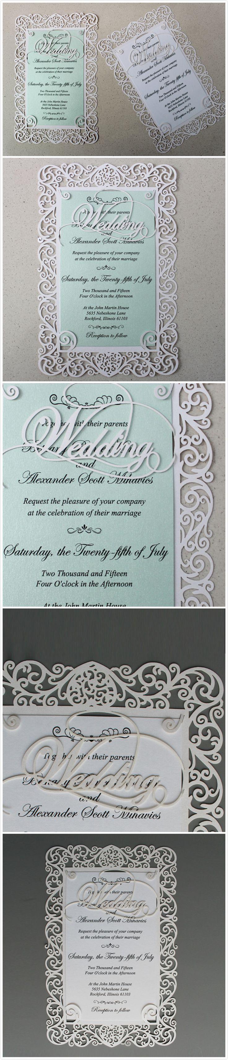 Wedding Invitations Lace Wedding Invitation Laser Cut