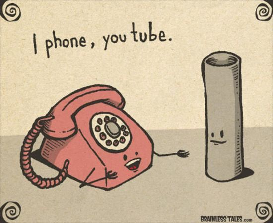 iPhone, YouTube...