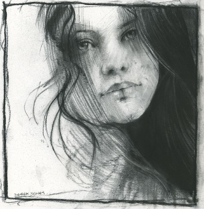 done in charcoal. art by derekjones