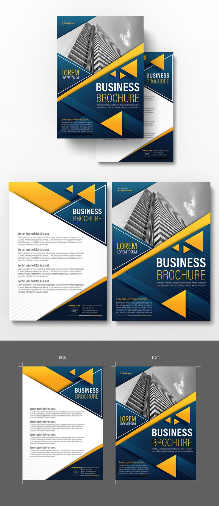 Brochure Cover Layout with Dark Blue and Orange Accents 4 - image | Adobe Stock  #Brochure #Business #Proposal #Booklet #Flyer #Template #Design #Layout #Cover #Book #Booklet #A4 #Annual #Report| Brochure template | Brochure design template | Flyers | Template | Brochures | Flyer Background | Background design | Business Proposal | Proposal Design | Booklet | Professional | Professional - Proposal - Brochure - Template