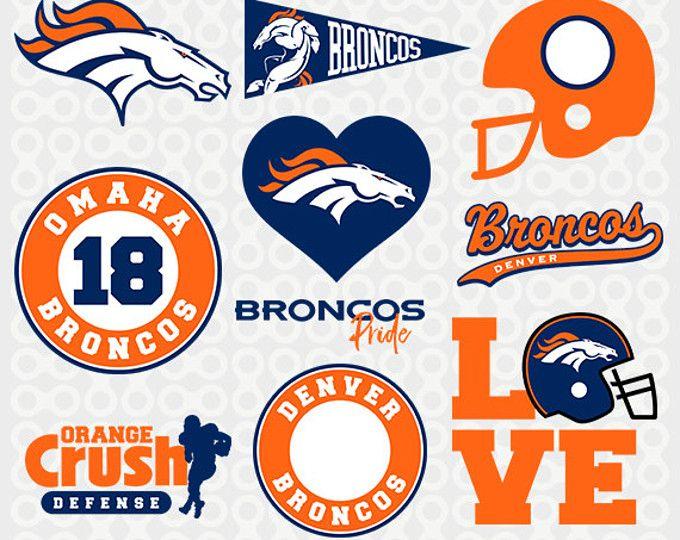 Denver Broncos SVG Files, Broncos Football, Denver Broncos Cutting Files, Silhouette Cameo, Denver Broncos Logo, Cricut Svg,  SVG-06