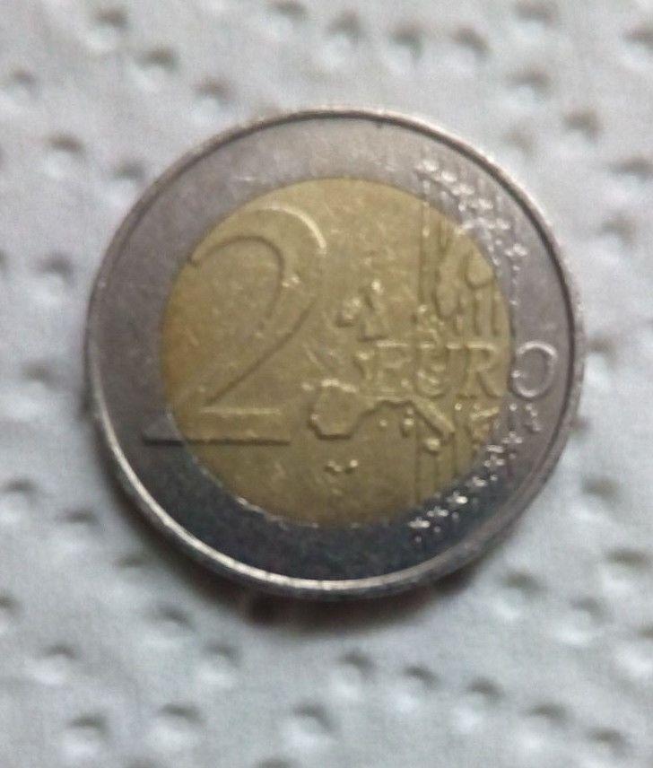 2 Euro Belgien Fehlprägung - reinschauen - selten