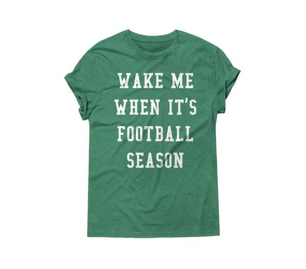 Wake Me When It's Football Season - Game Day T-Shirt – Ruby's Rubbish