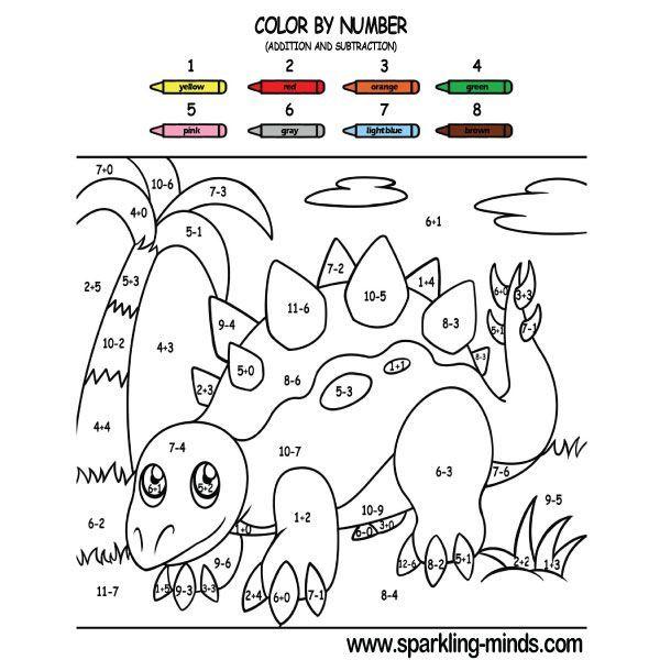 Color By Number Dino Dudes Worksheet Education Com Dinosaur Theme Preschool Dinosaur Activities Dinosaurs Preschool