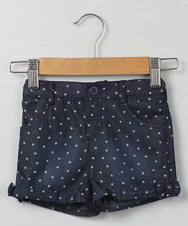 Loving this Blue Star Chambray Shorts - Infant, Toddler & Girls on #zulily! #zulilyfinds
