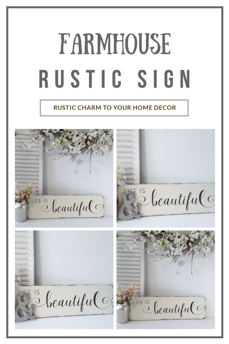 Carve out your own inspired space with this rustic farmhouse wood sign from Wood Finds. Such a beautiful rustic wood sign! :) #farmhousedecor #rusticdecor #rusticwoodsign #ad