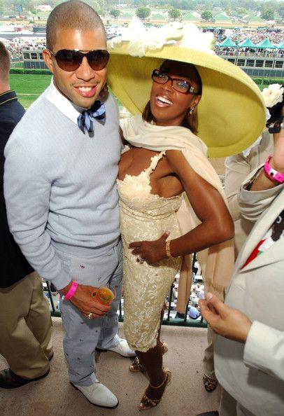 Star Jones Reynolds and husband Al Reynolds at the races