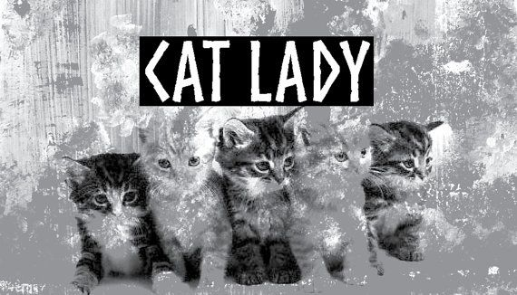 Aimant // Magnet //  Cat Lady par DJUMTL sur Etsy