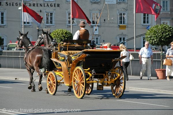 Horse carriage ride in   Salzburg, Austria