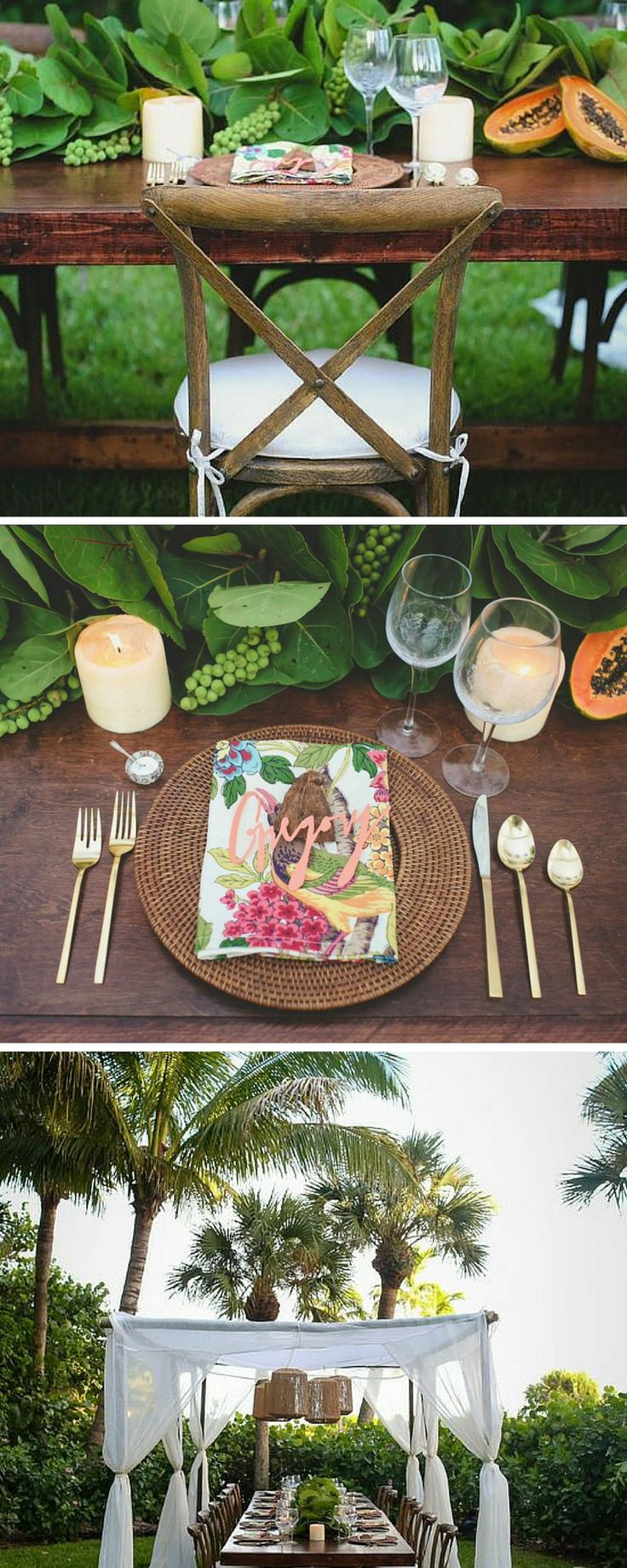 Garden Wedding - Tahitian Decor | Sundial Beach Resort & Spa | Sanibel Island | Florida Beach Wedding