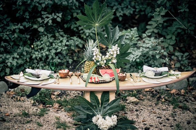 Inspiration for the surfers lovers || estilo boho novia boda surfera playa corona flores mejor blog perfecta original