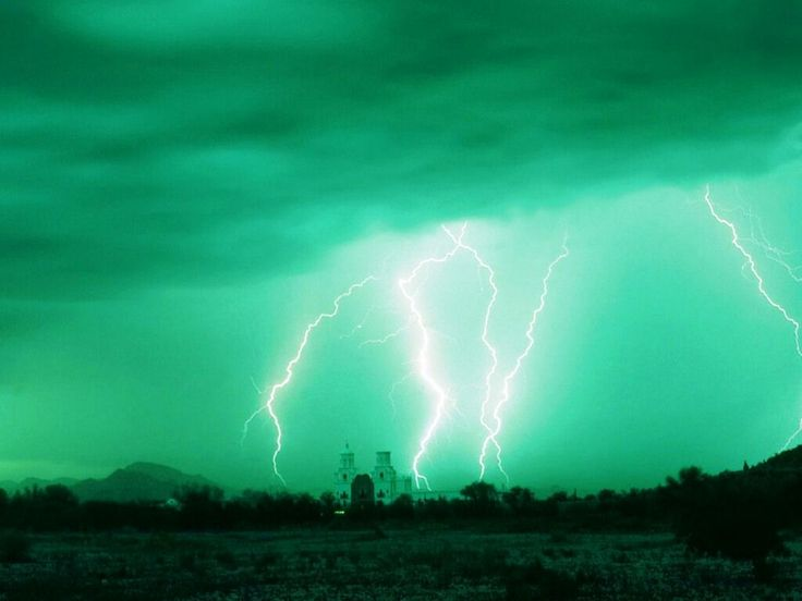 Lightening green background