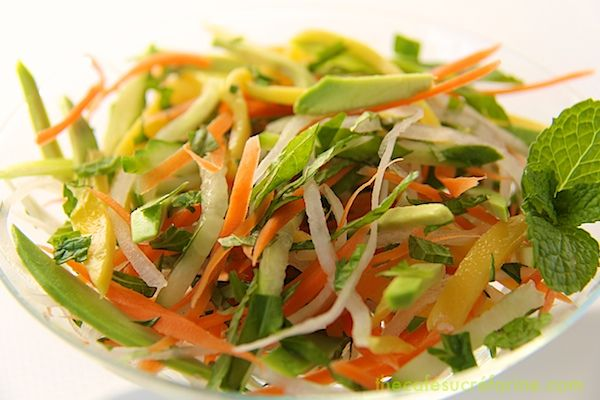 Vietnamese Table Salad, goes on top of Grilled Vietnamese Bahn Mi Sandwiches, wonderful on it's own too!