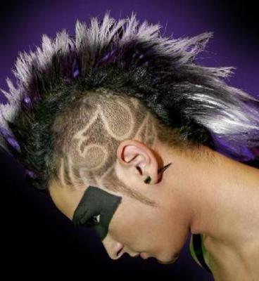 Tecktonik hair style