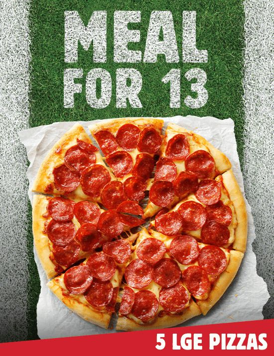 5 Pizzas Catering Offer Is Waiting 5x Large Pizzas 50