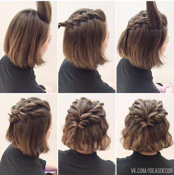 Peinados cabello corto, superficie fáciles!