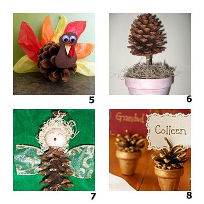 crafts with pine cone.
