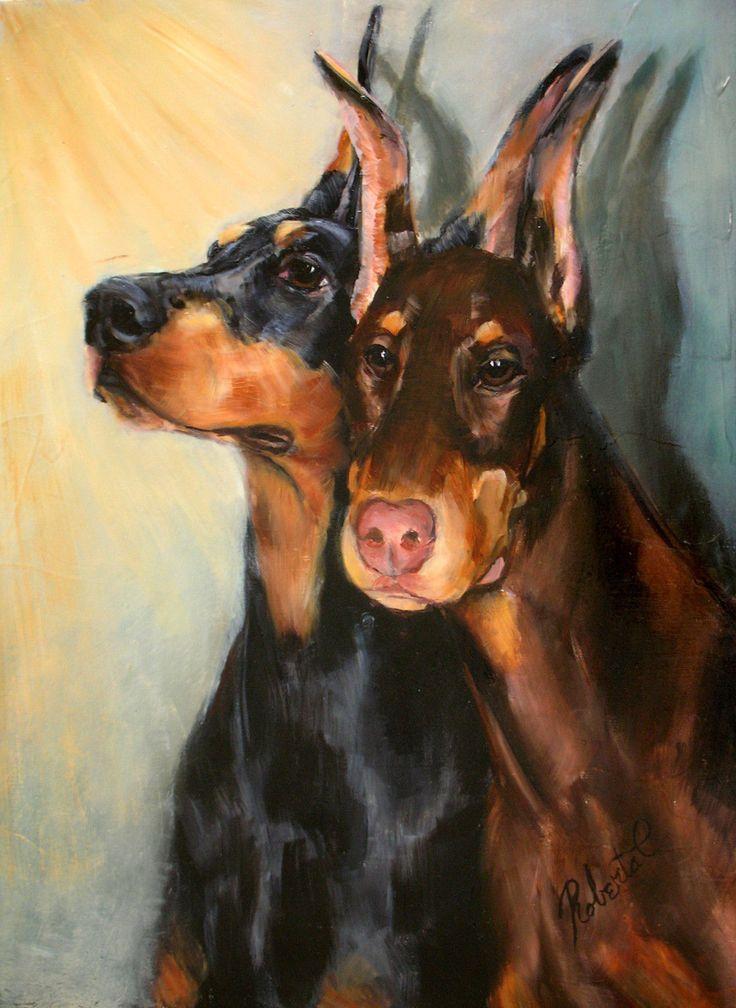 Doberman Pinscher (toungue), Necklace Art-Dog
