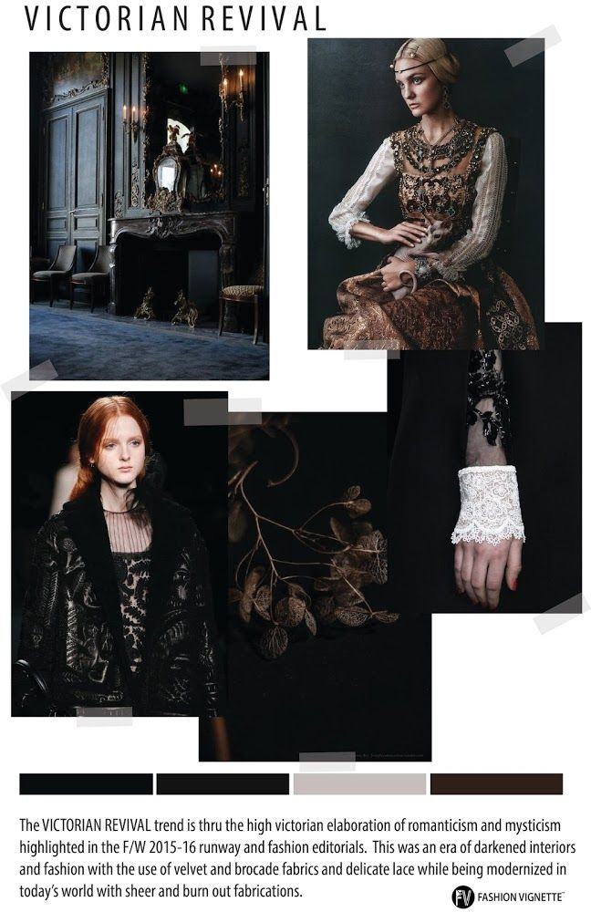 TRENDS // FV TREND/MOODBOARD - VICTORIAN REVIVAL . 2016/2017
